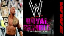 WWE ROYAL RUMBLE 2013 The Rock Wins WWE Title! (Results) WWE ROYAL RUMBLE January 27 2013