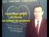 Cours vidéo gratuit de chimie seconde sur les liaisons covalentes