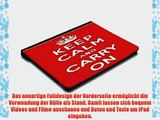 Keep Calm 10016 Keep Calm And Carry On Schwarz iPad 4 3 2 Smart Back Case Leder Tasche Shutzh?lle
