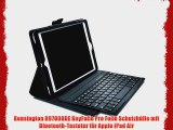 Kensington K97008DE KeyFolio Pro Folio Schutzh?lle mit Bluetooth-Tastatur f?r Apple iPad Air