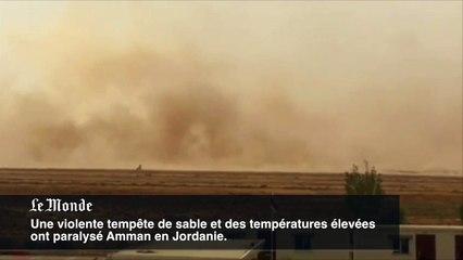 Une tempête de sable paralyse la Jordanie