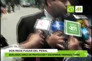 2 reos fugan del penal El Milagro - Trujillo