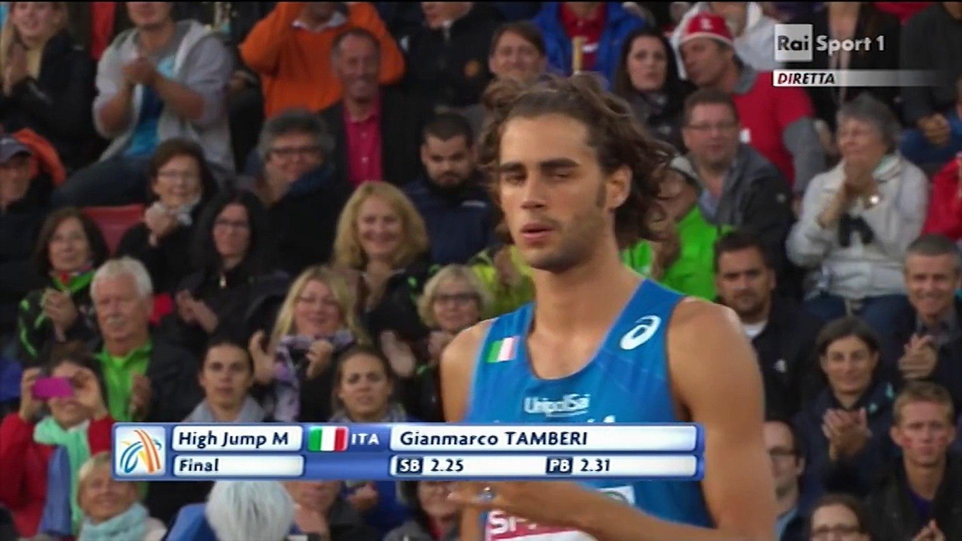 Campionati Europei di Zurigo - Finale salto in alto uomini - Gianmarco  Tamberi - video Dailymotion