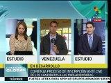 Venezuela: arranca inscripción de candidatos a parlamentarias