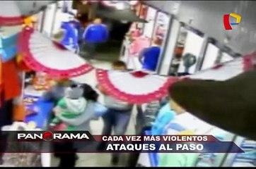 Cada vez más violentos: ataques al paso