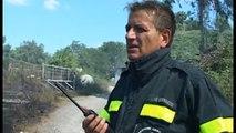 Campania - Allarme incendi: fiamme su Monte Massico e Lago Patria (06.07.15)