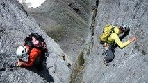 Voie des Dalles Face Sud Aiguille du Pouce Aiguilles Rouges Chamonix Mont-Blanc alpinisme
