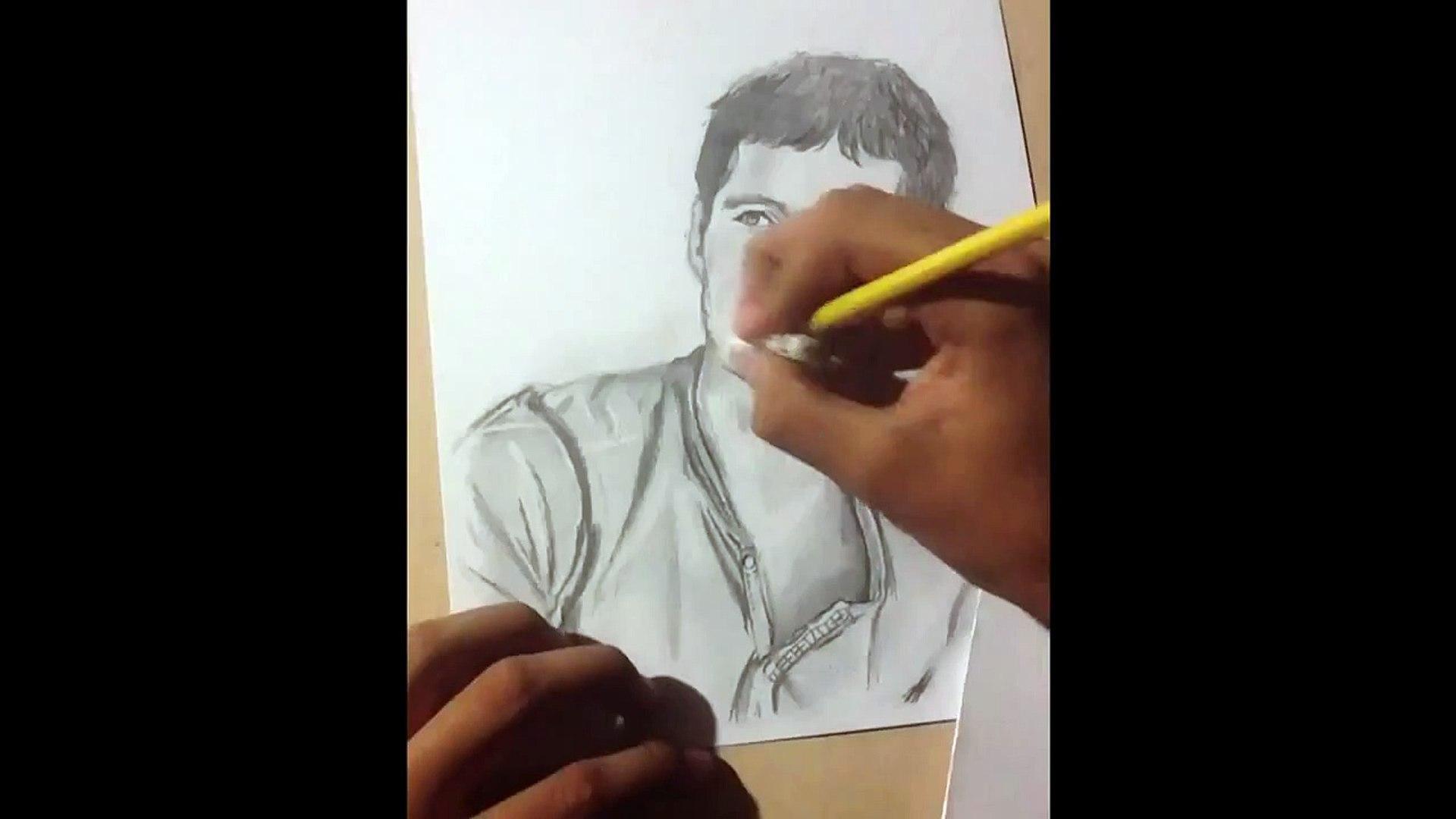 Dibujo De Dylan Obrien The Maze Runner Thomas Speed Drawing