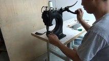 Máquina de coser cuero de forma manual