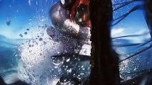 Riding on water! Watch daredevil stunt rider SURF waves on h