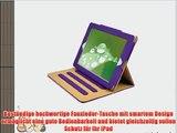 JAMMYLIZARD | Ledertasche Smart Case f?r iPad Air 2 2014 (6. Generation) VIOLETT