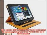 JAMMYLIZARD   Smart Case Ledertasche f?r Samsung Galaxy Tab 2 10.1 SCHWARZ