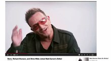 Bono, Richard Branson, Olivia Wilde, Matt Damon's Strike - Attack Conspiracy Theories - illuminati