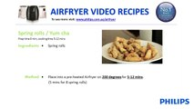 Low oil recipes and fat free cooking with Philips Airfryer
