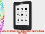 TrekStor eBook Reader Pyrus (152 cm (6 Zoll ) Digital Ink Display 2 GB) schwarz