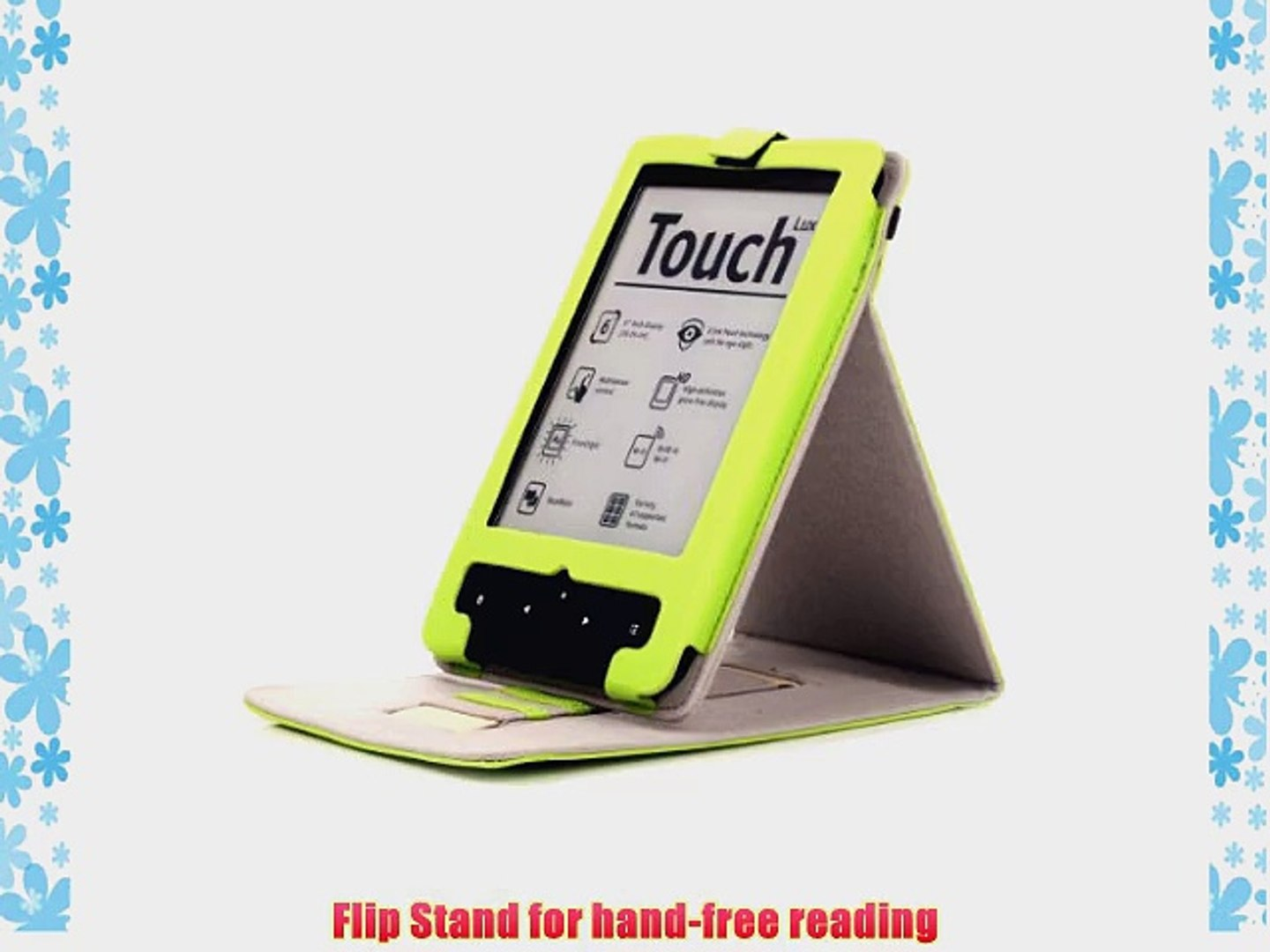Mulbess - PocketBook Touch Lux 623 / Touch 622 / Touch Lux 2 626 / Basic Touch 624 Stand H?lle