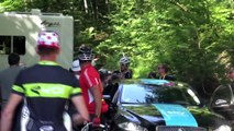 Team Sky staff altercation with supporters during Tour de France 2013