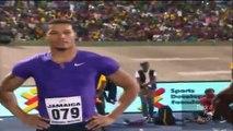 Asafa Powell destroys Ryan Bailey,  Jamaica International Invitational complete with interview
