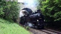 Parní lokomotivy při akci 140 let železnice v Lužné u Rakovníka