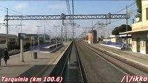 Linea Tirrenica Roma - Livorno 4° Tratto Treno Prove Archimede (dalla cabina)