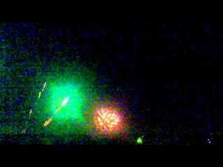 Show of fireworks 2014 in Durres Albania