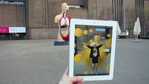 """""""All Hail Damien Hirst"""" video @ Tate Modern retrospective - augmented reality art"""
