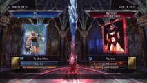 Soul Calibur 5 :: 25 Hit Combo :: Phuriate (Nightmare) vs TwoBlackMana (Voldo)
