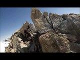 Chamonix alpine climbing. Mont Blanc, Aiguille du midi, Tacul, Maudit. 3 (trois) monts route