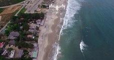 Montañita, Ecuador visto desde un drone