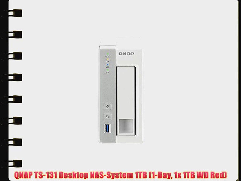 1 x 4TB WD RED QNAP TS-128 4TB 1 Bay Desktop NAS Einheit