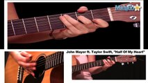 How to Play Half of My Heart by John Mayer Ft. Taylor Swift on Guitar