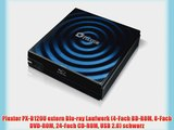 Plextor PX-B120U extern Blu-ray Laufwerk (4-Fach BD-ROM 8-Fach DVD-ROM 24-Fach CD-ROM USB 2.0)