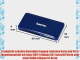 Hama Kartenleser Slim UDMA/UHS-I f?hig (u.a. microSD/SDHC SD/SDHC CF Typ I MMC USB 3.0) blau