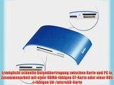 Hama Premium Kartenleser Pro Aluminiumgeh?use? (u.a. micro SD/SDHC SD/SDHC CF Typ I MMC USB