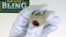 Lab Ruby Bling Bling Ring | Rick Ross Style Hip Hop Jewelry