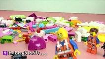 Frozen Elsa Saves LEGO Uniktty Cloud Cuckoo Palace! Emmet, Lord Business, WyldStyle [Play-Doh]