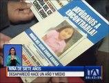 Una niña de siete años desapareció hace un año y medio