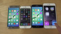 Samsung Galaxy S6 Edge vs. iPhone 6 vs. Samsung Galaxy S6 vs. iPhone 6 Plus - Which Is Faster?