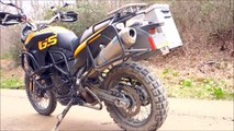 BMW F800GS with Metal Mule Panniers and Exhaust (Scorpion)