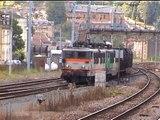 SNCF, 06/08/2002, en gare de Longuyon et Longwy, passage de trains marchandises et voyageurs (DV)
