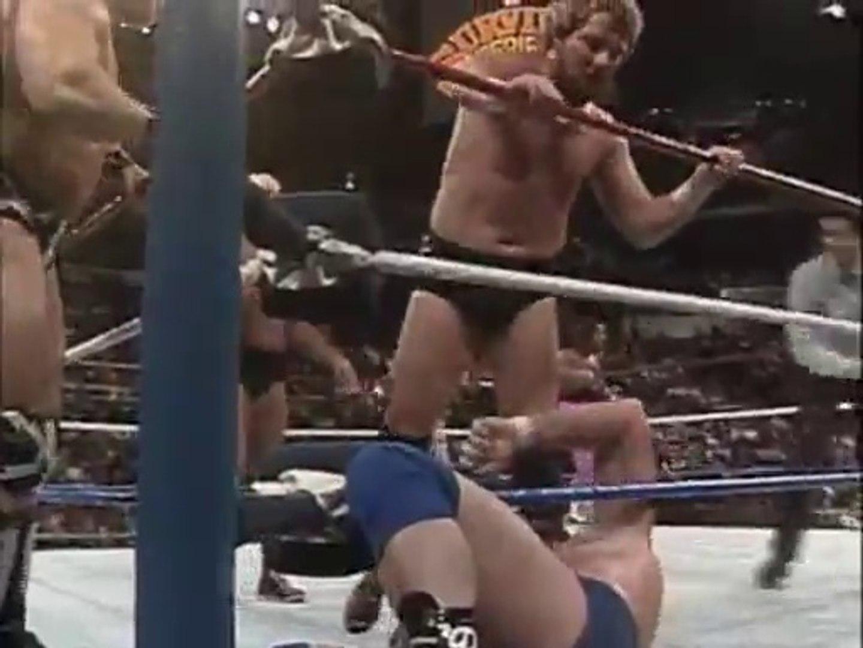 Roddy Piper, Bret Hart, Virgil, British Bulldog vs Ric Flair, The Mountie, Ted DiBiase & The War