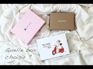 Quelle box choisir ? Mylittlebox VS Birchbox VS Glossybox