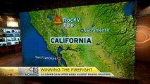 California crews gain upper hand against raging wildfires
