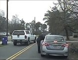 Stupid Guy arrested for impersonating a cop during Wife's Arrest