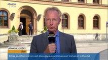 Prozess gegen mutmaßliche IS-Terroristen: Thorsten Hapke zum Prozessauftakt am 03.08.2015