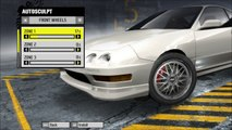 Need For Speed - Pro Street - Acura Integra Type R - Tuning, Modifying and Testing