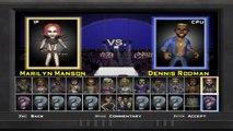 Celebrity Deathmatch The game Marilyn Manson VS Dennis Rodman