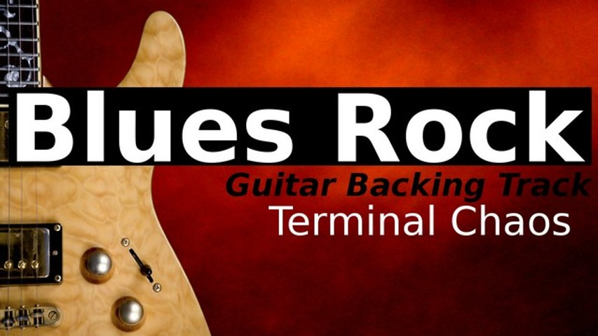 HEAVY BLUES ROCK Backing Track for Guitar in E Minor - Terminal Chaos