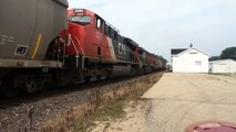 CN 2726 East at Burlington Rd in Burlington, IL and CN 8942 West at Eleroy, IL both on 8-2-11