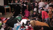 Charity in Serbia hands out clothes to migrants passing through
